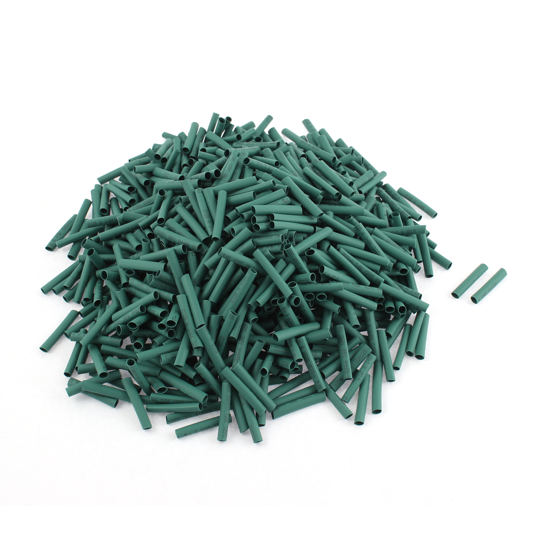 Electrical Connection Cable Sleeve 25mm Length Heat Shrink Tubing Green 1000Pcs