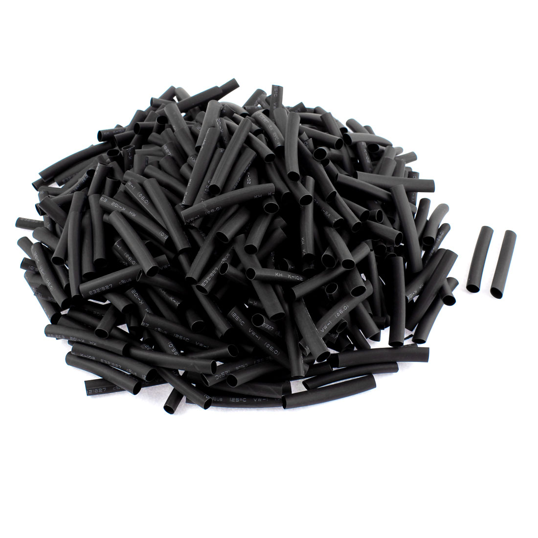 Electrical Connection Cable Sleeve 50mm Length Heat Shrink Tubing Black 430Pcs
