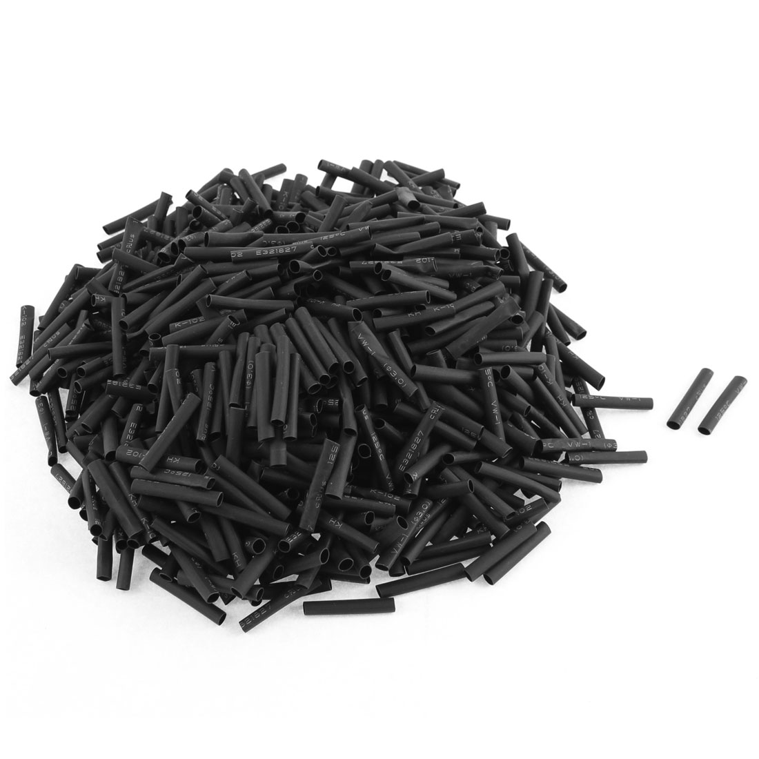 "Electrical Connection Cable Sleeve 1"" Length Heat Shrink Tubing Black 800Pcs"