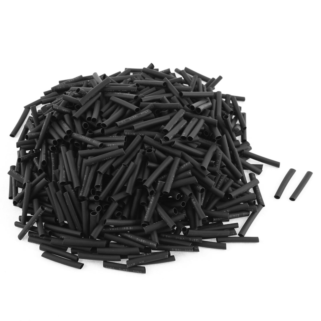 Electrical Connection Cable Sleeve 25mm Length Heat Shrink Tubing Black 800Pcs