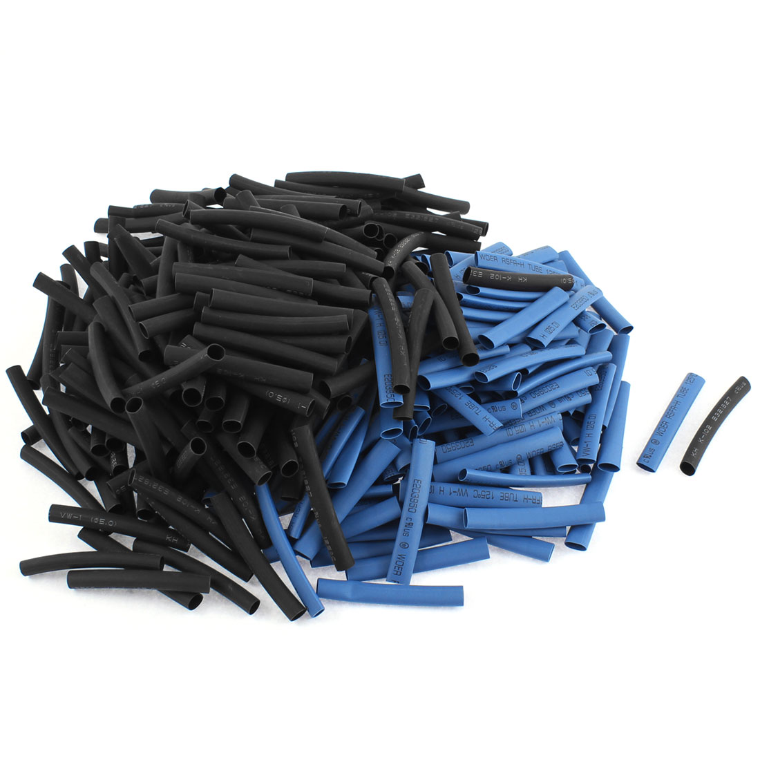 Electrical Connection Cable Sleeve 50mm Long Heat Shrink Tubing Blue Black 400Pcs