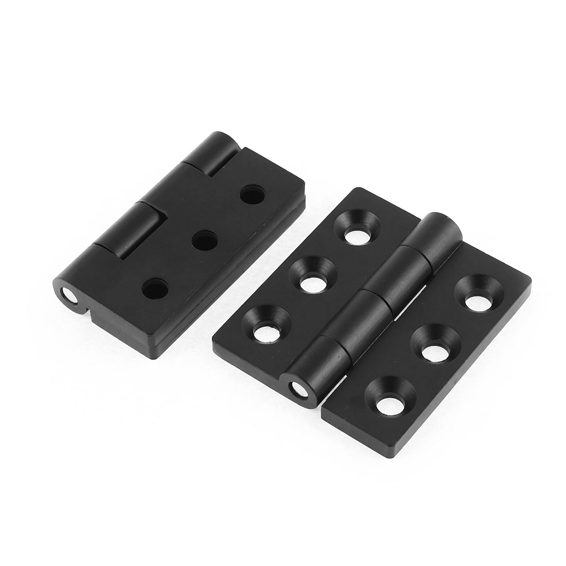 Cupboard Cabinet Closet 65mm x 55mm Square Corner Door Butt Hinge Black 2Pcs
