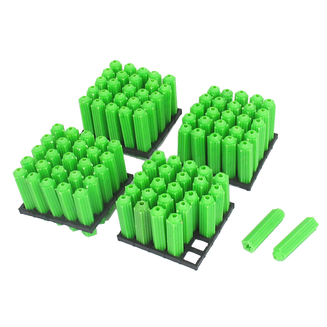 6mmx25mm Masonry Fixing Nonslip Plastic Wall Green 100pcs