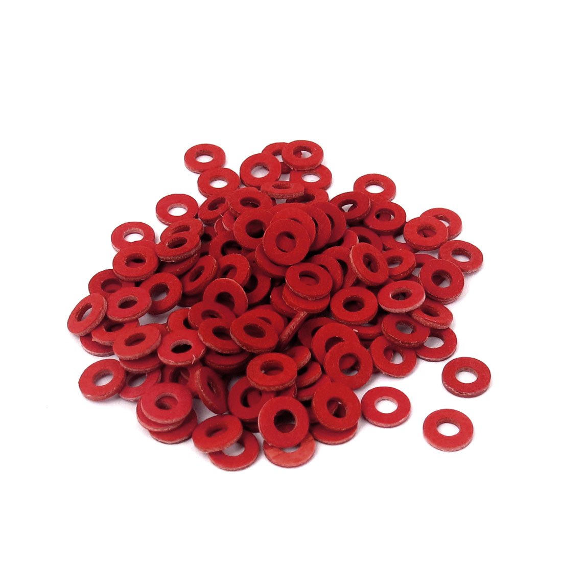 2.5mmx5.5mmx1mm Fiber Motherboard Insulating Pad Fastening Washer Red 100pcs