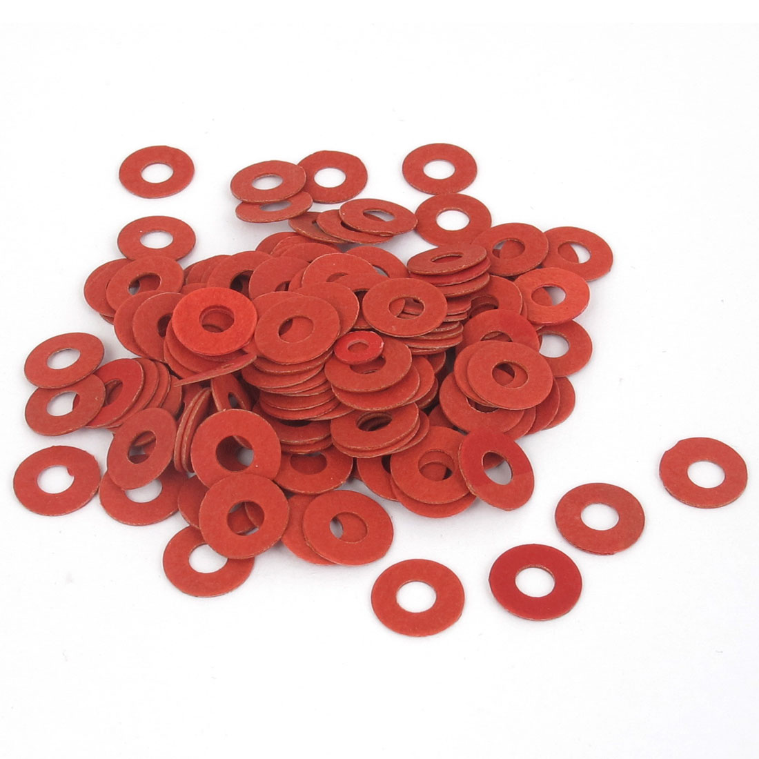 4mmx10mmx0.5mm Fiber Motherboard Insulating Gasket Flat Washer Red 100pcs