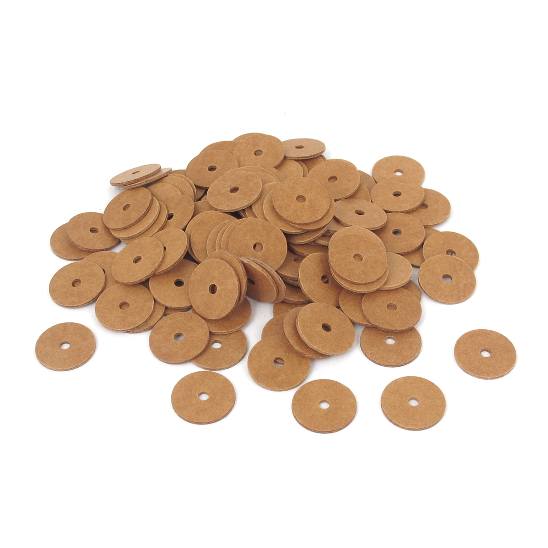 2mmx12mmx1mm Fiber Motherboard Insulating Washers Insulation Spacer Orange 100pcs