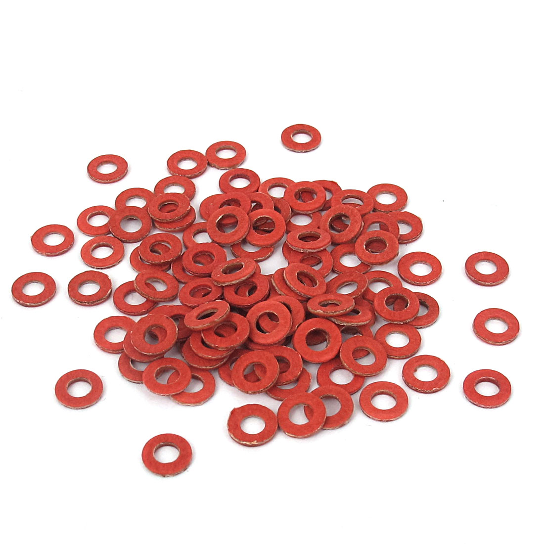 3mmx6mmx1mm Fiber Motherboard Insulating Pad Fastening Washers Red 100pcs