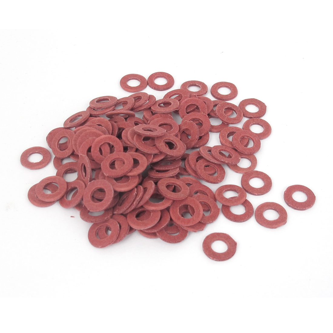 5mmx10mmx1mm Fiber Motherboard Insulating Pad Fastening Washer Red 100pcs