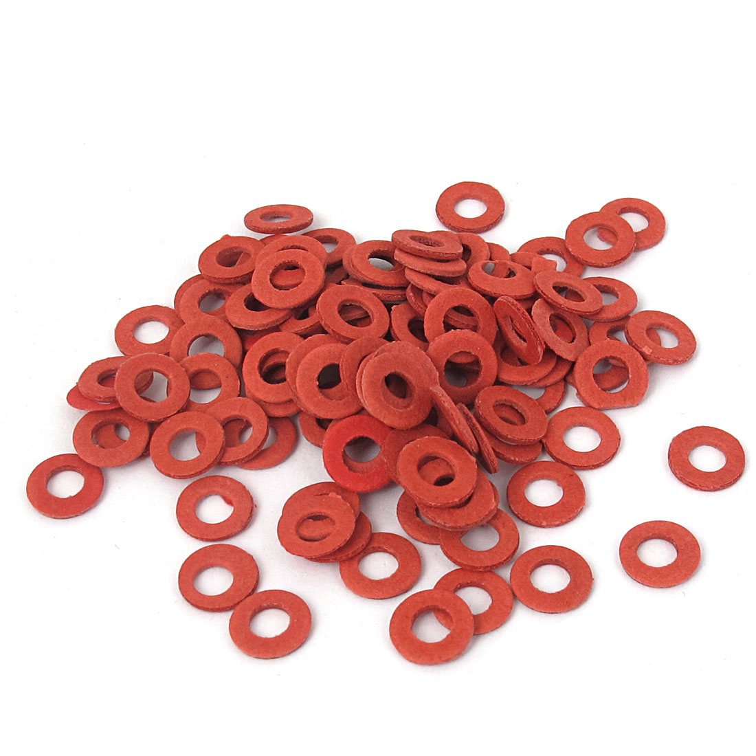 4mmx8mmx1mm Fiber Motherboard Insulating Gasket Flat Washer Red 100pcs