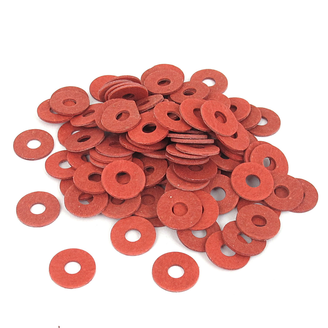 4mmx12mmx1mm Fiber Motherboard Insulating Gasket Flat Washer Red 100pcs
