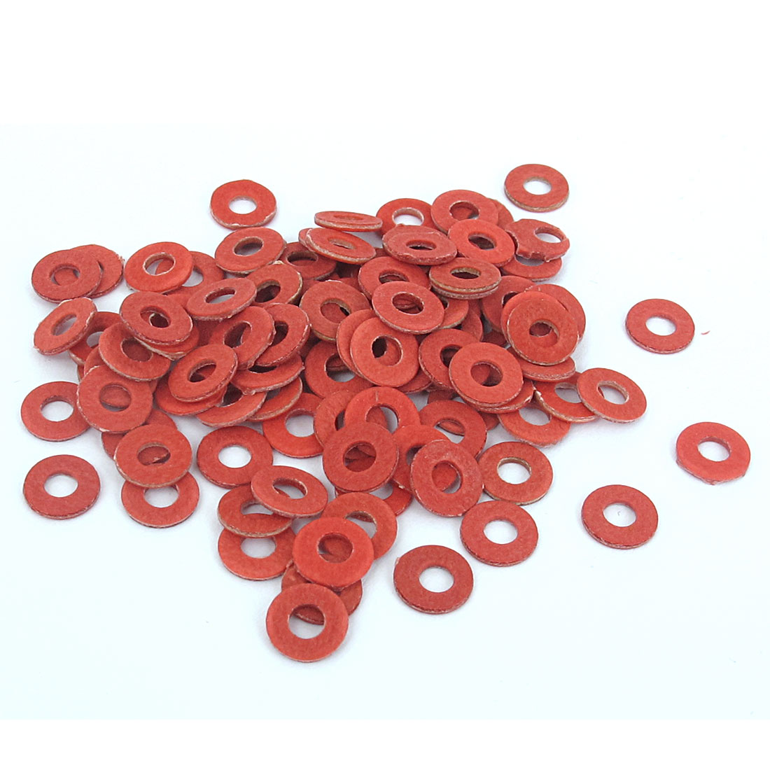 3mmx7mmx1mm Fiber Motherboard Insulating Pad Fastening Washers Red 100pcs