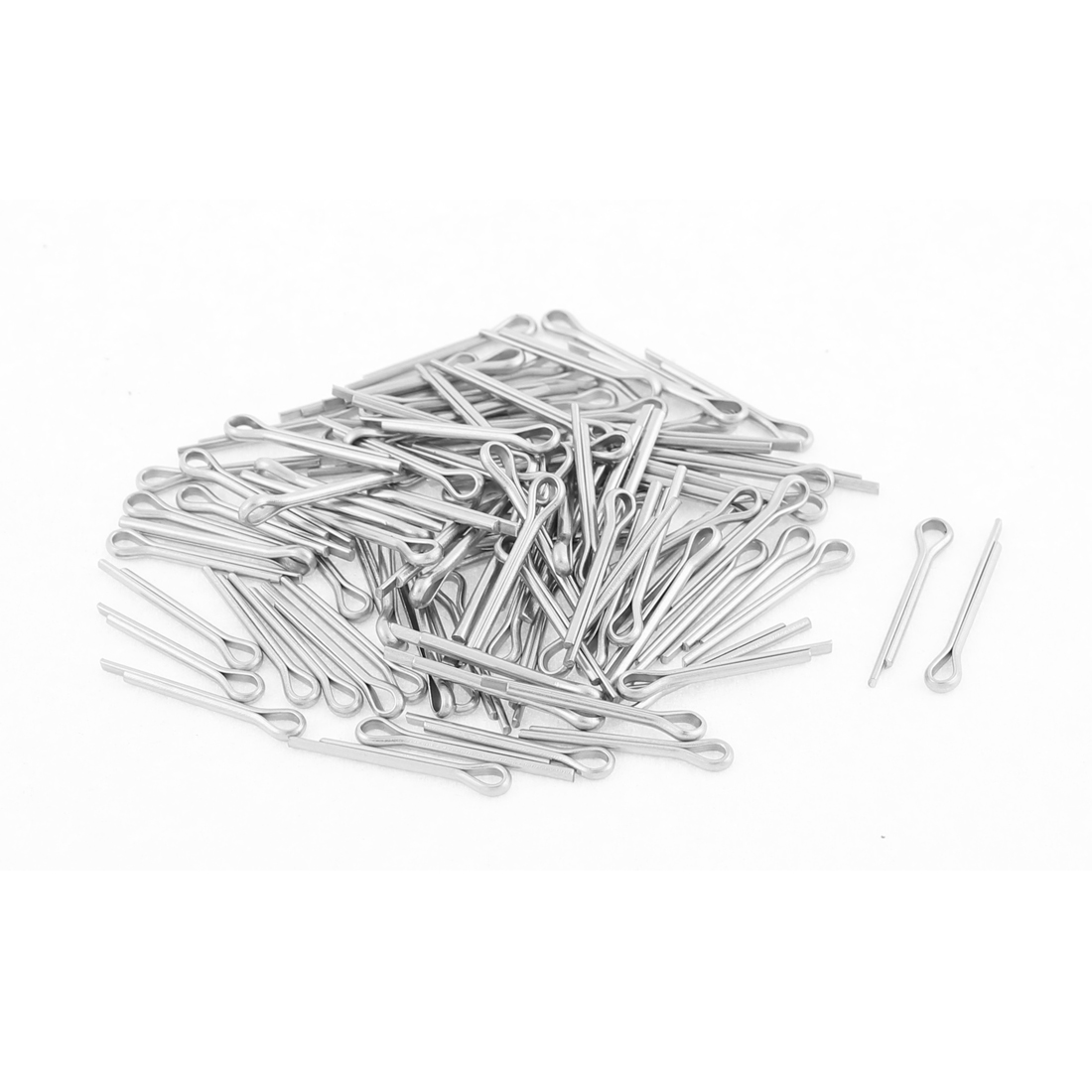 M1.2x12mm 304 Stainless Steel Split Cotter Pins Silver Tone 100pcs