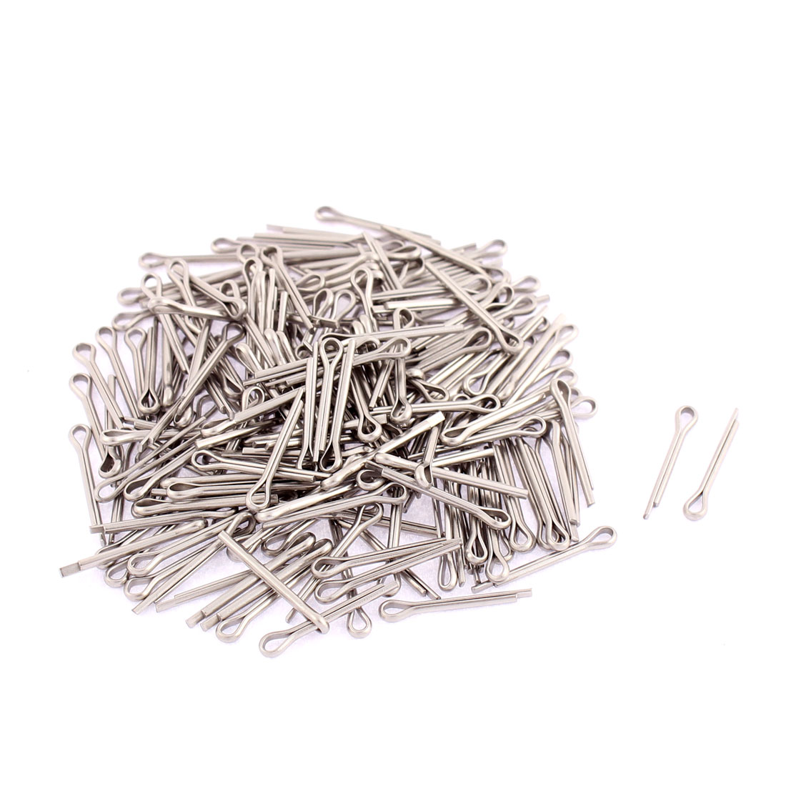 M1.2x12mm 304 Stainless Steel Split Cotter Pins Silver Tone 200pcs