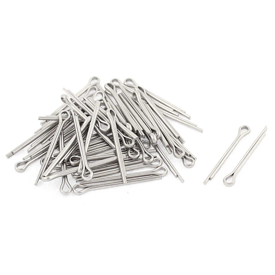 M1.2x16mm 304 Stainless Steel Split Cotter Pins Silver Tone 50pcs
