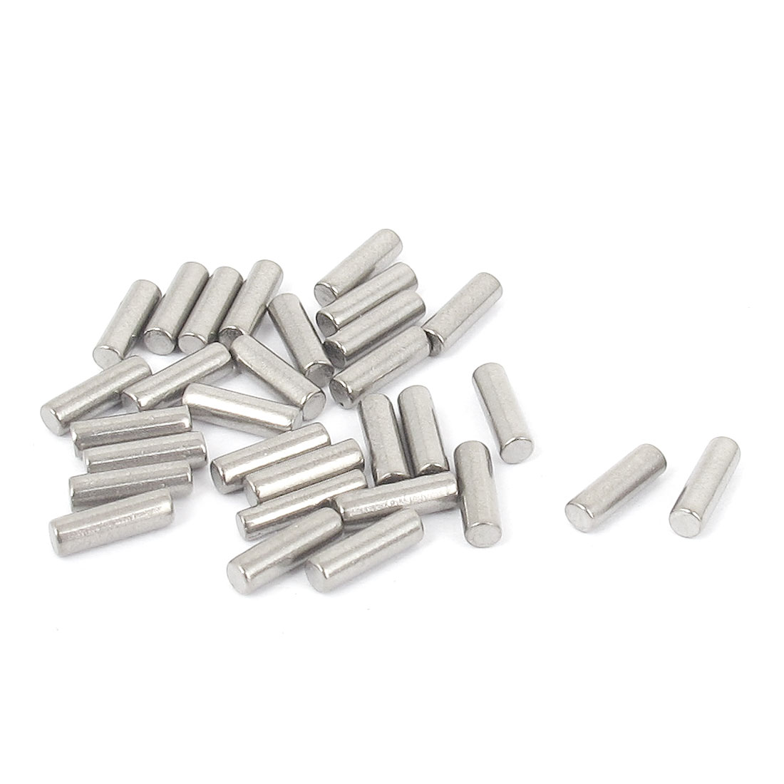 2.5mm x 8mm 304 Stainless Steel Dowel Pins Fasten Elements Silver Tone 30pcs