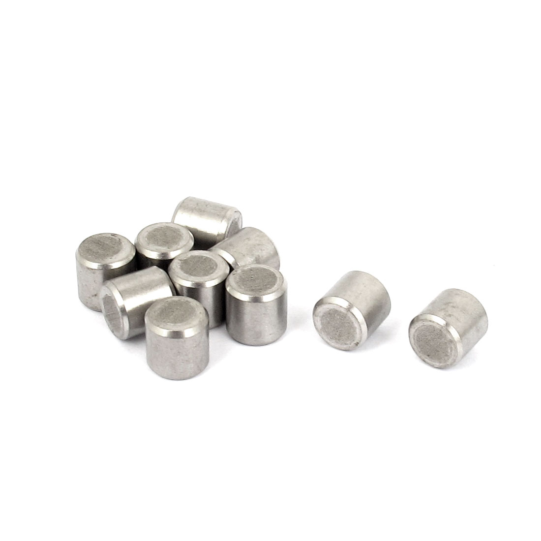 8mm x 8mm 304 Stainless Steel Dowel Pins Fasten Elements Silver Tone 10pcs