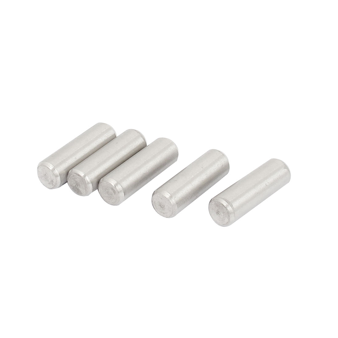 8mm x 25mm 304 Stainless Steel Dowel Pins Fasten Elements Silver Tone 5pcs