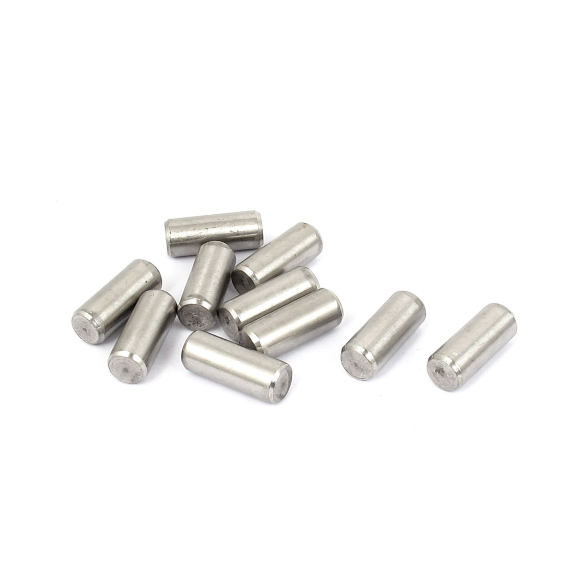 8mm x 20mm 304 Stainless Steel Dowel Pins Fasten Elements Silver Tone 10pcs
