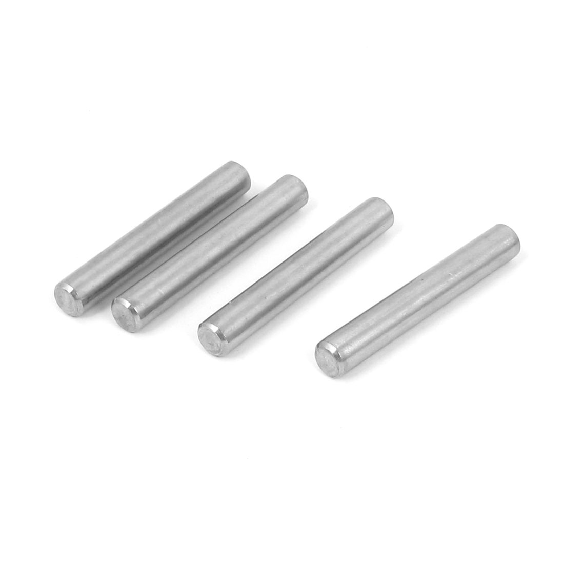 8mm x 55mm 304 Stainless Steel Dowel Pins Fasten Elements Silver Tone 4pcs