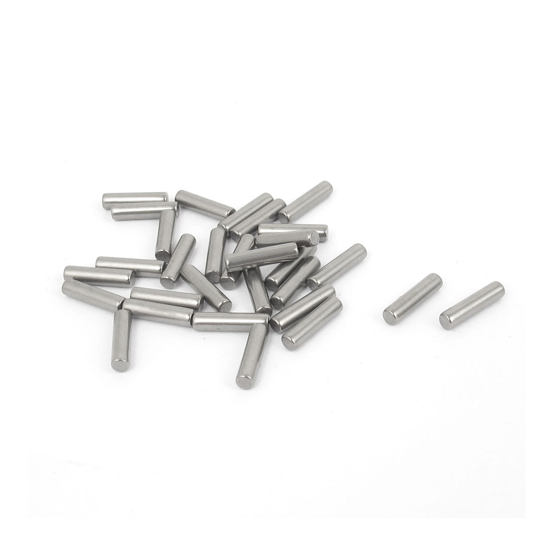 2.5mm x 10mm 304 Stainless Steel Dowel Pins Fasten Elements Silver Tone 30pcs