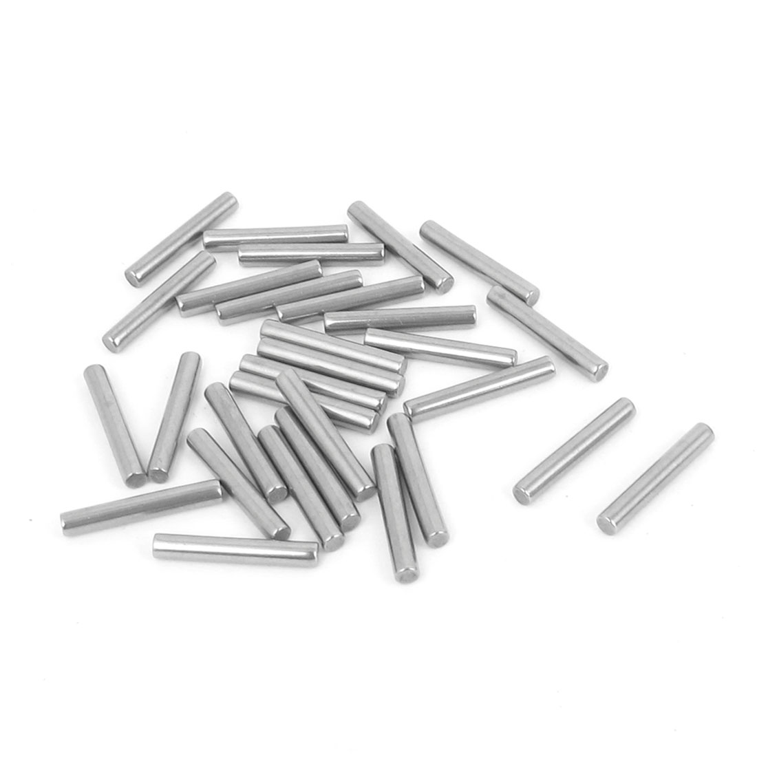 2.5mm x 16mm 304 Stainless Steel Dowel Pins Fasten Elements Silver Tone 30pcs