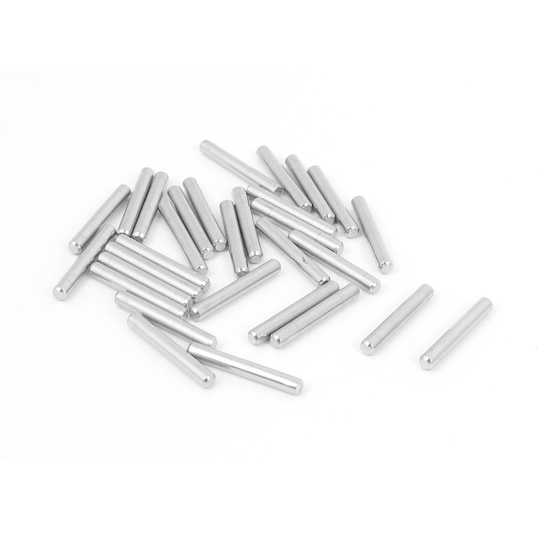 2.5mm x 18mm 304 Stainless Steel Dowel Pins Fasten Elements Silver Tone 30pcs