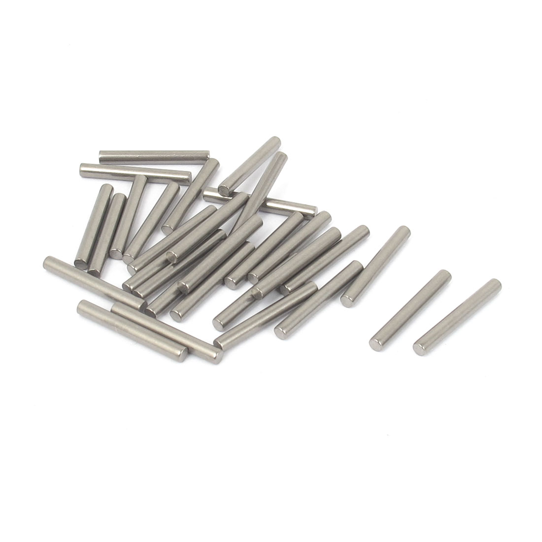 2.5mm x 20mm 304 Stainless Steel Dowel Pins Fasten Elements Silver Tone 30pcs