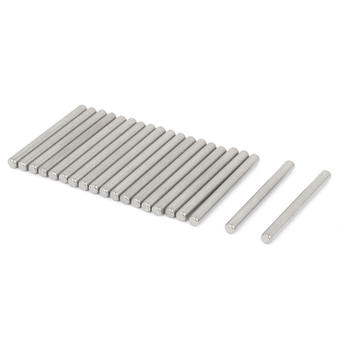 2.5mm x 25mm 304 Stainless Steel Dowel Pins Fasten Elements Silver Tone 20pcs