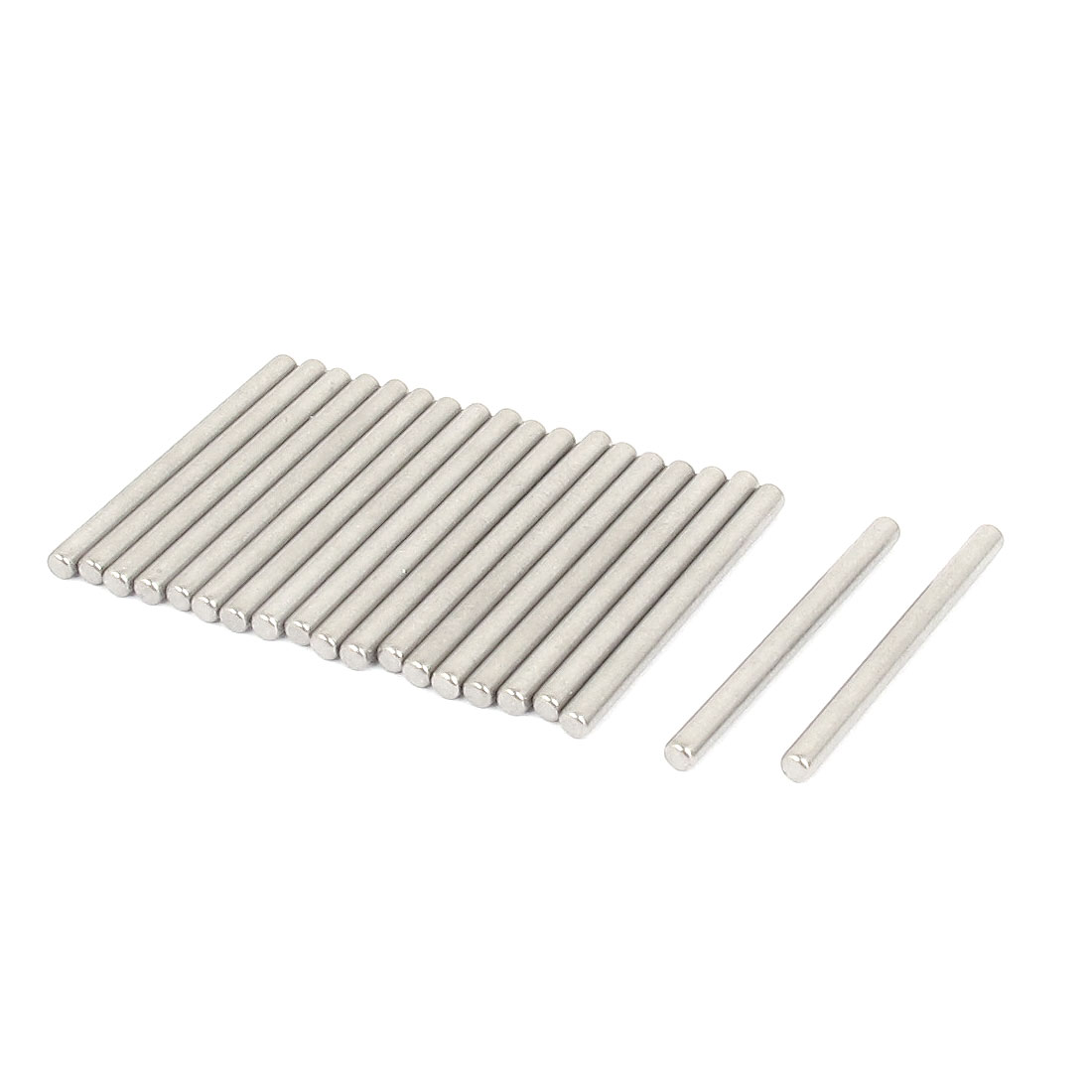 2.5mm x 30mm 304 Stainless Steel Dowel Pins Fasten Elements Silver Tone 20pcs