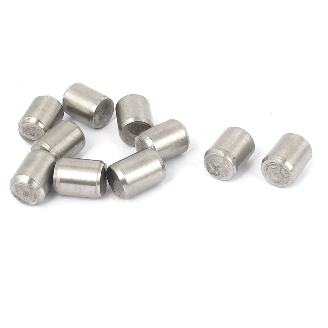 8mm x 10mm 304 Stainless Steel Dowel Pins Fasten Elements Silver Tone 10pcs