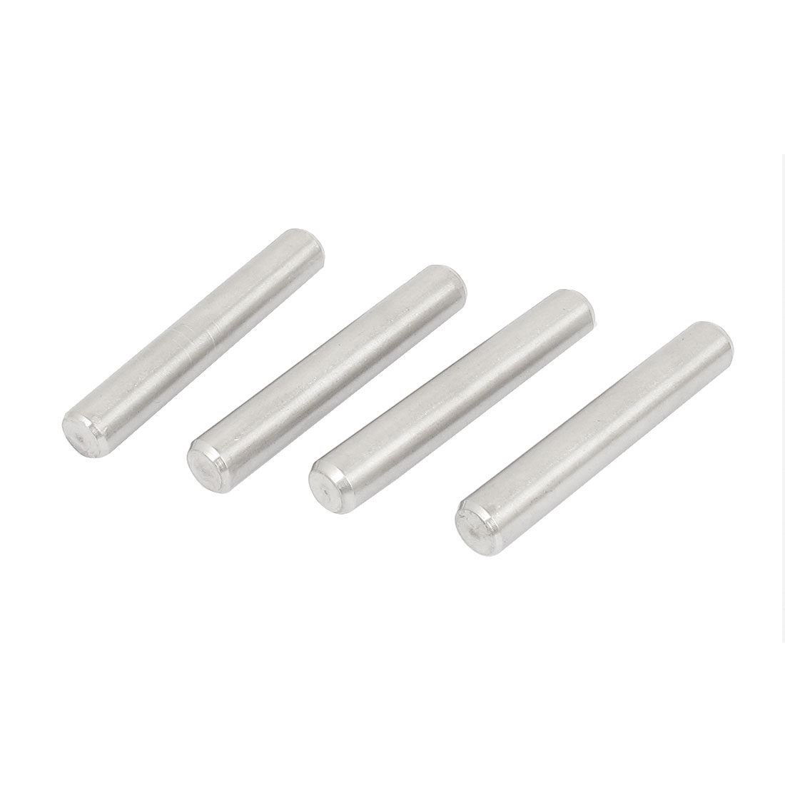 8mm x 50mm 304 Stainless Steel Dowel Pins Fasten Elements Silver Tone 4pcs