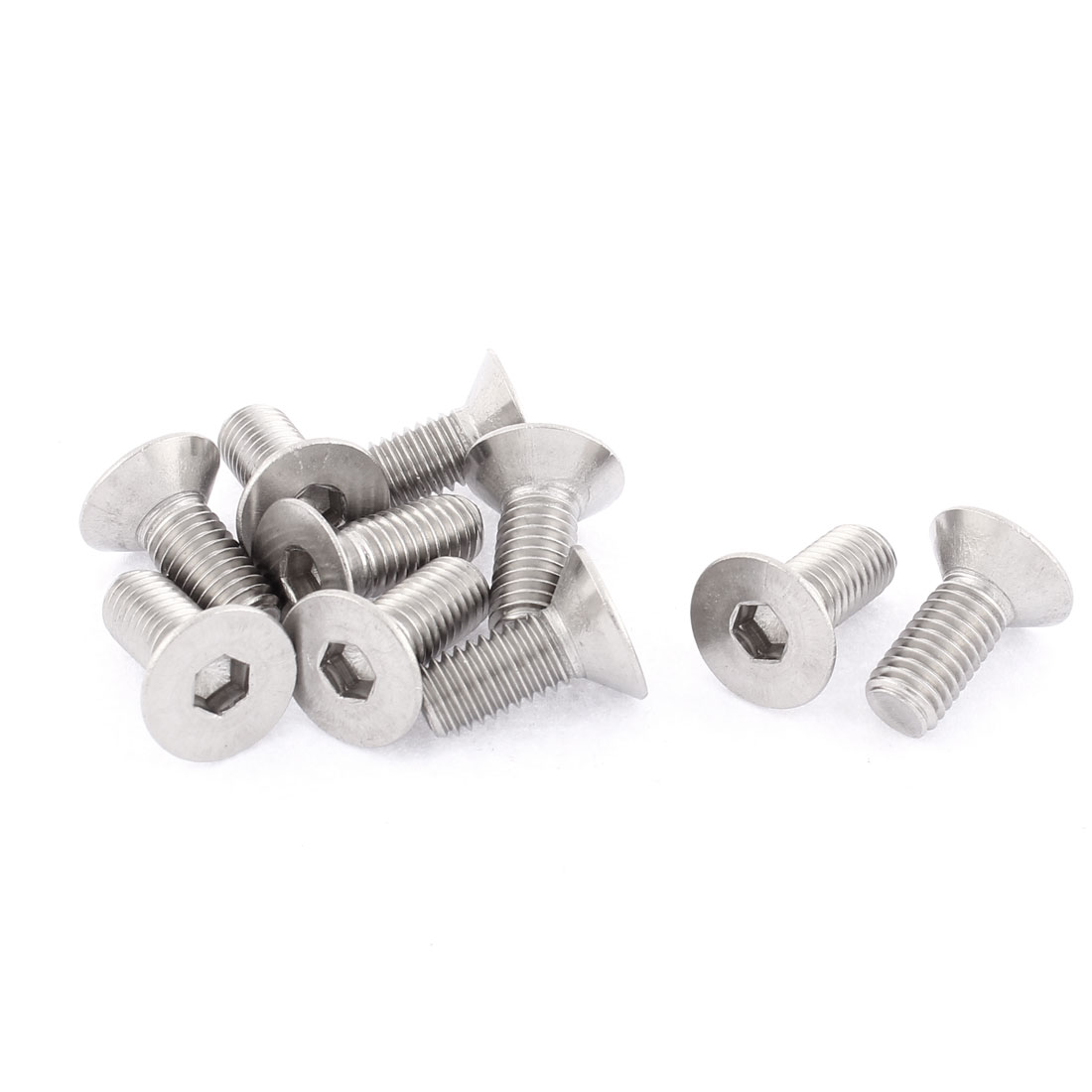 M8 Stainless Steel Hex Socket Countersunk Flat Head Screws Bolt 20mm Long 10pcs