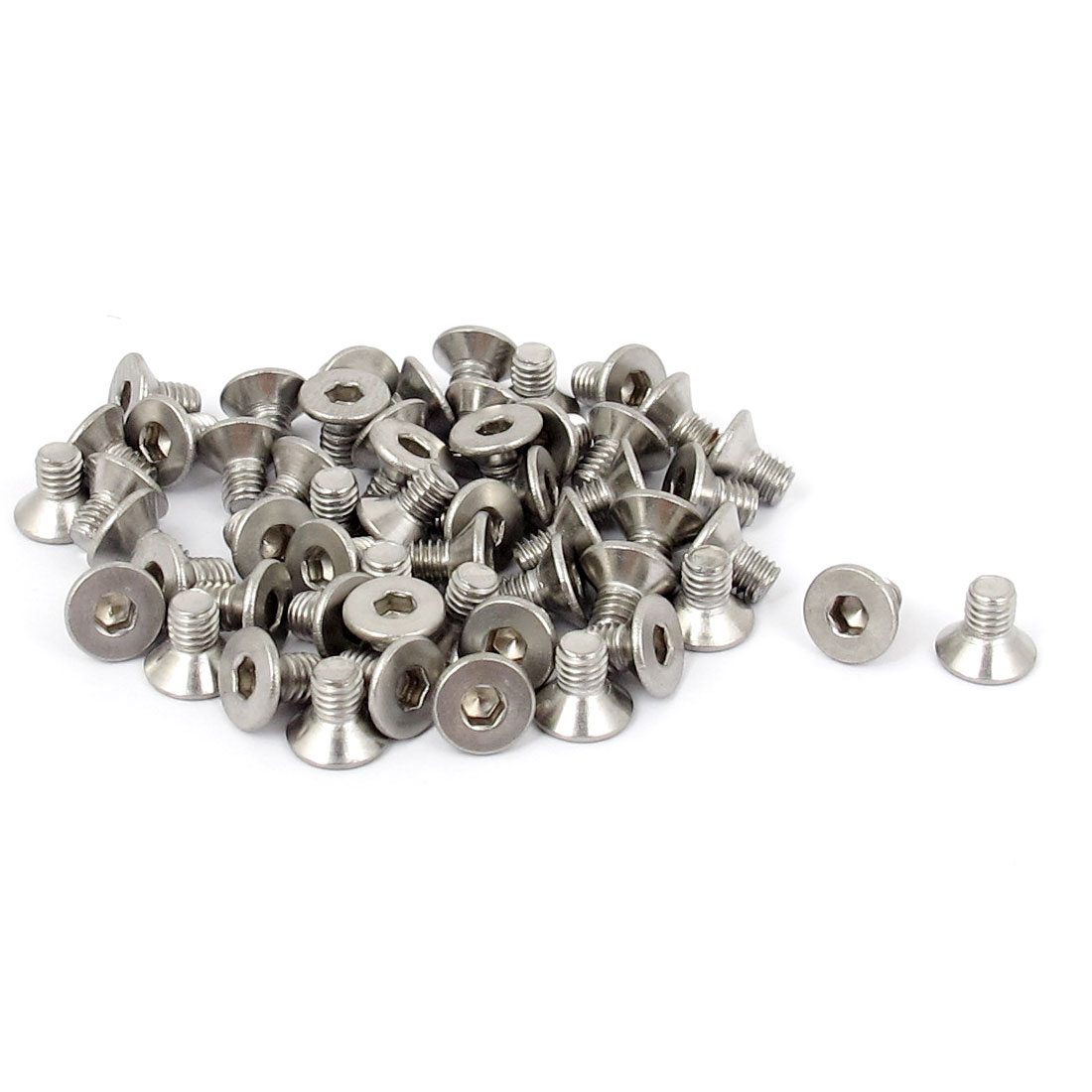 M3x 5mm Metric 304 Stainless Steel Hex Socket Countersunk Flat Head Screw Bolts 50pcs
