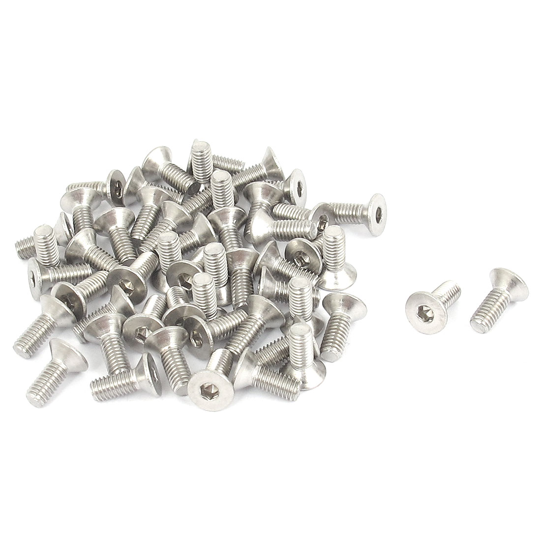 M3 x 8mm Metric 304 Stainless Steel Hex Socket Countersunk Flat Head Screw Bolts 50pcs