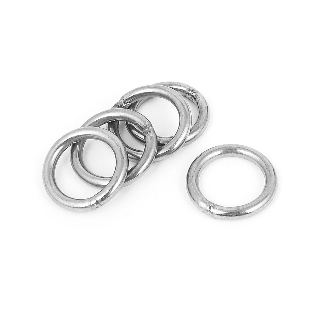 3mmx20mm Stainless Steel Welded O Ring 5pcs for Bags Key Chains Key Rings