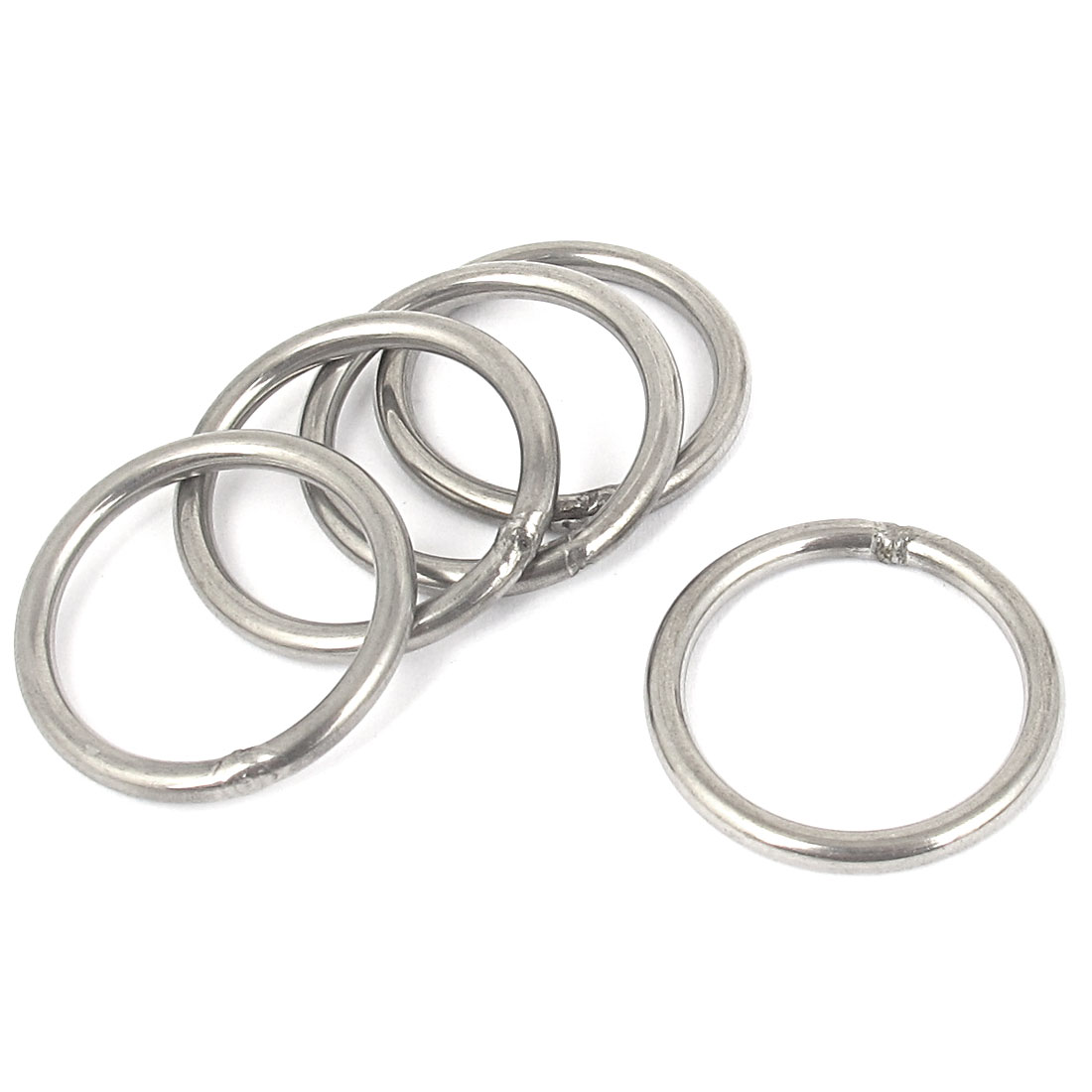 3mmx30mm Stainless Steel Welded O Ring 5pcs for Bags Key Chains Key Rings