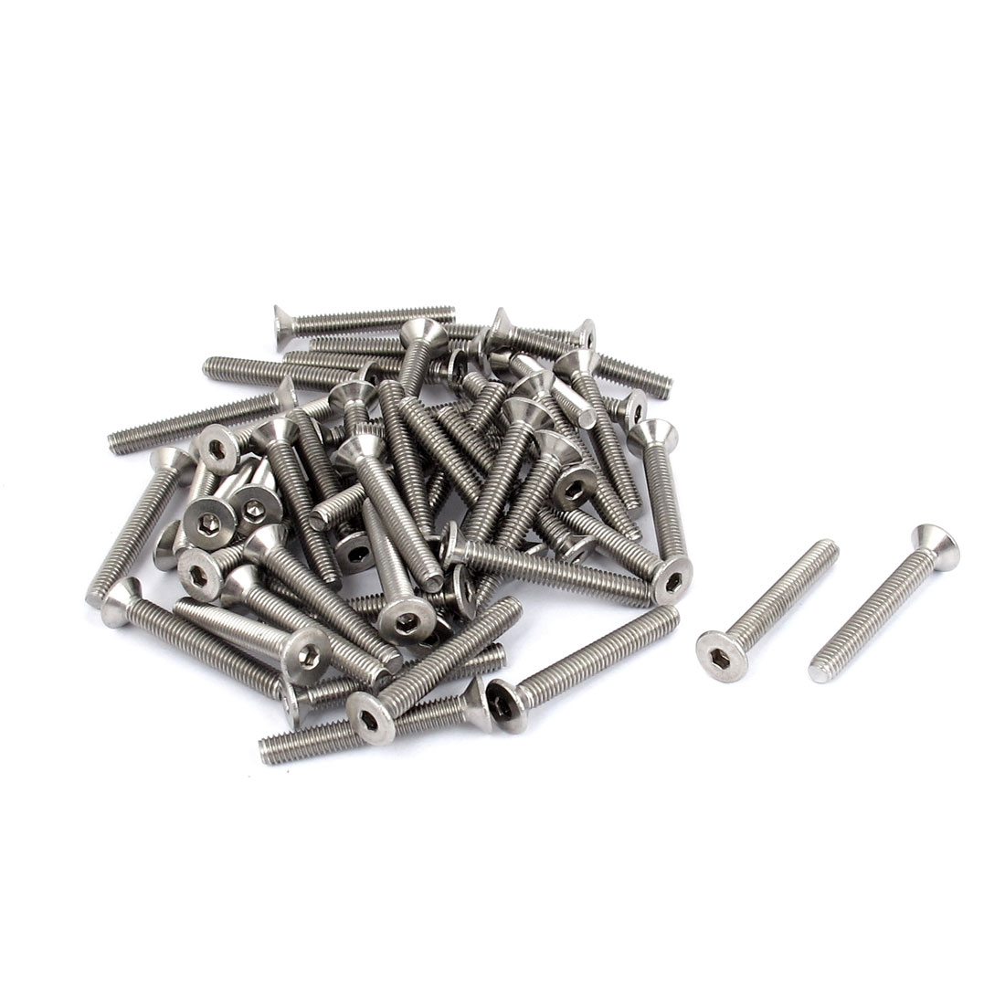 M4 x 30mm Metric 304 Stainless Steel Hex Socket Countersunk Flat Head Screw Bolts 50pcs