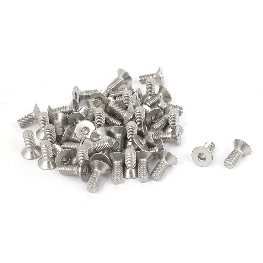 M4 x 10mm Metric 304 Stainless Steel Hex Socket Countersunk Flat Head Screw Bolts 50pcs