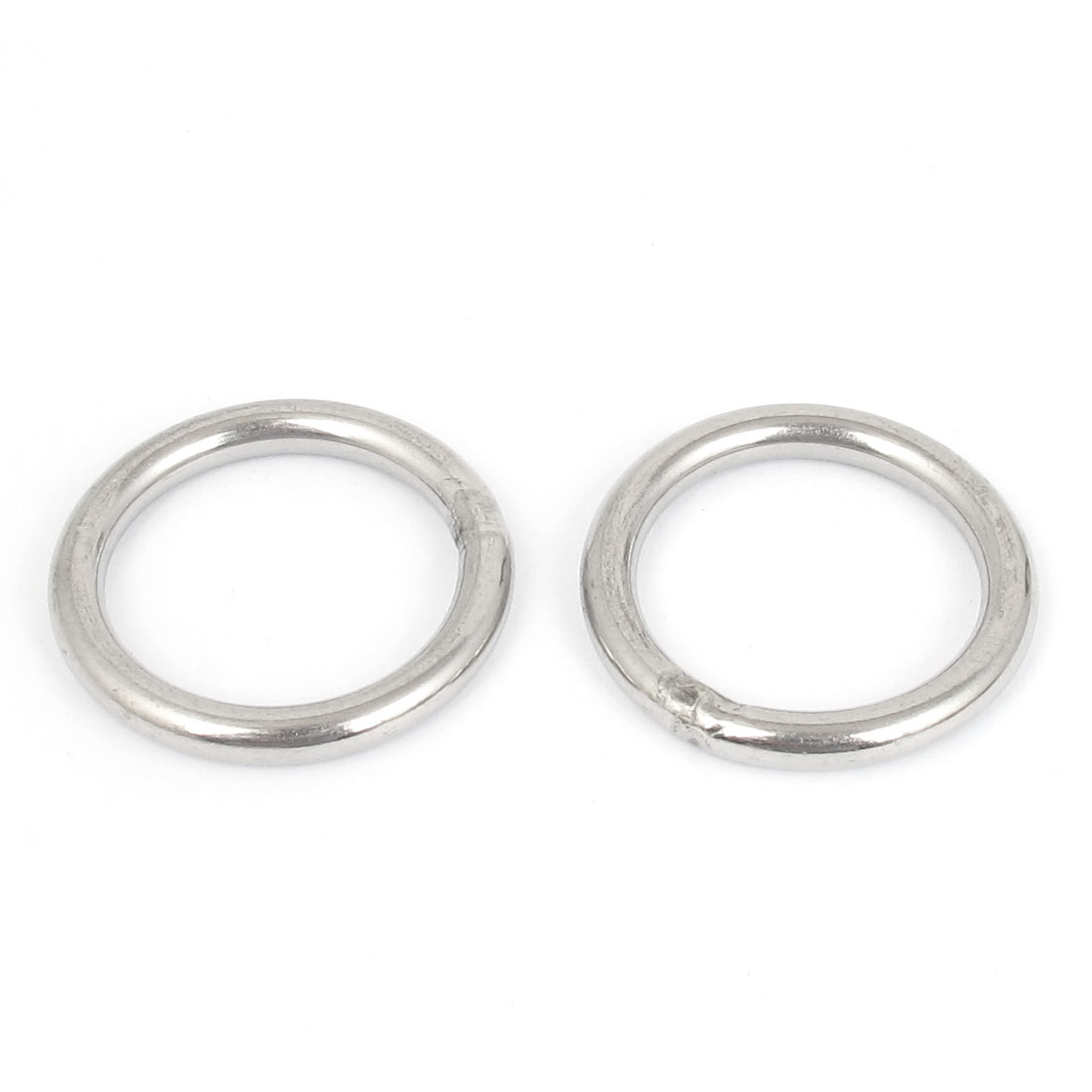 5mmx40mm Stainless Steel Welded O Ring 2pcs for Bags Key Chains Key Rings