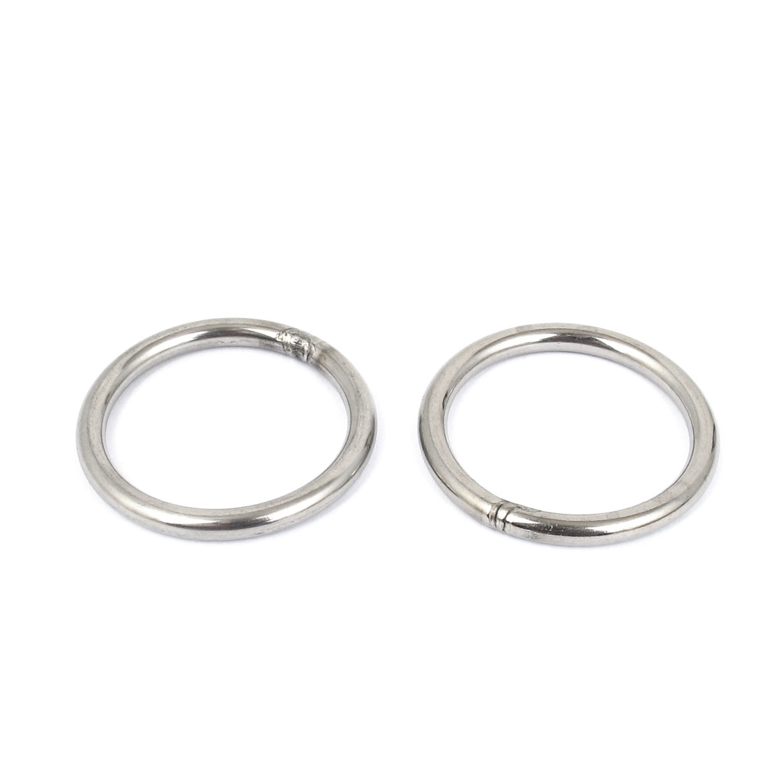 5mmx50mm Stainless Steel Welded O Ring 2pcs for Bags Key Chains Key Rings