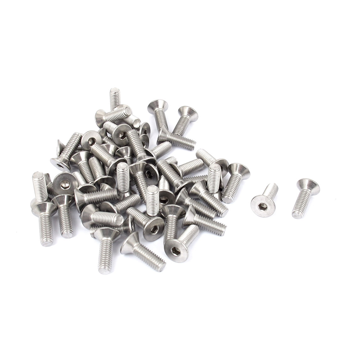 M5 x 16mm Metric 304 Stainless Steel Hex Socket Countersunk Flat Head Screw Bolts 50pcs