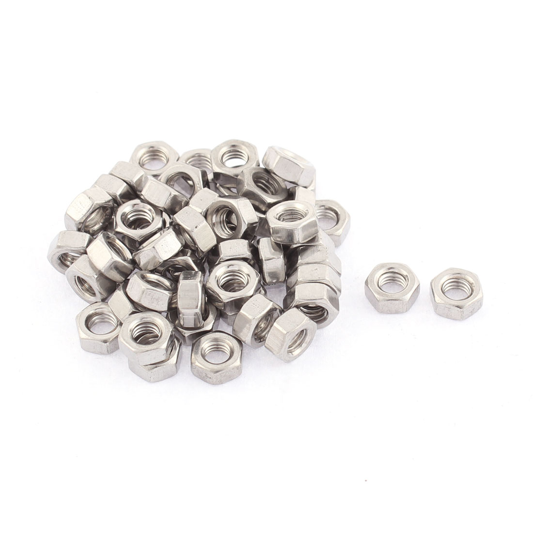 M4 Thread Dia 304 Stainless Steel Electric Machine Fastener Screws Hex Nut 50pcs