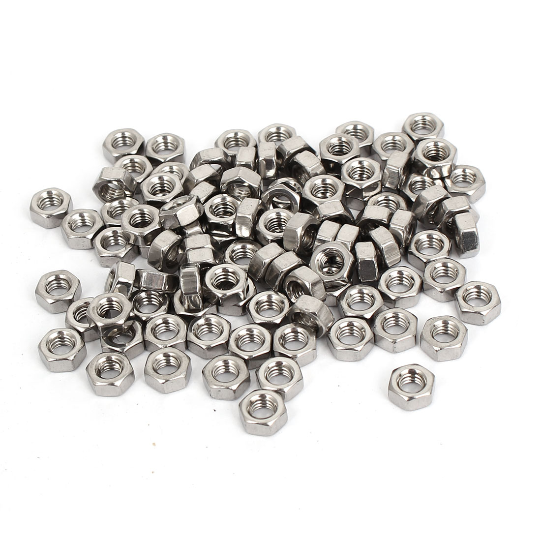 100pcs M4 Metric Machine Stainless Steel Hex Hexagon Nuts for Screws Bolts