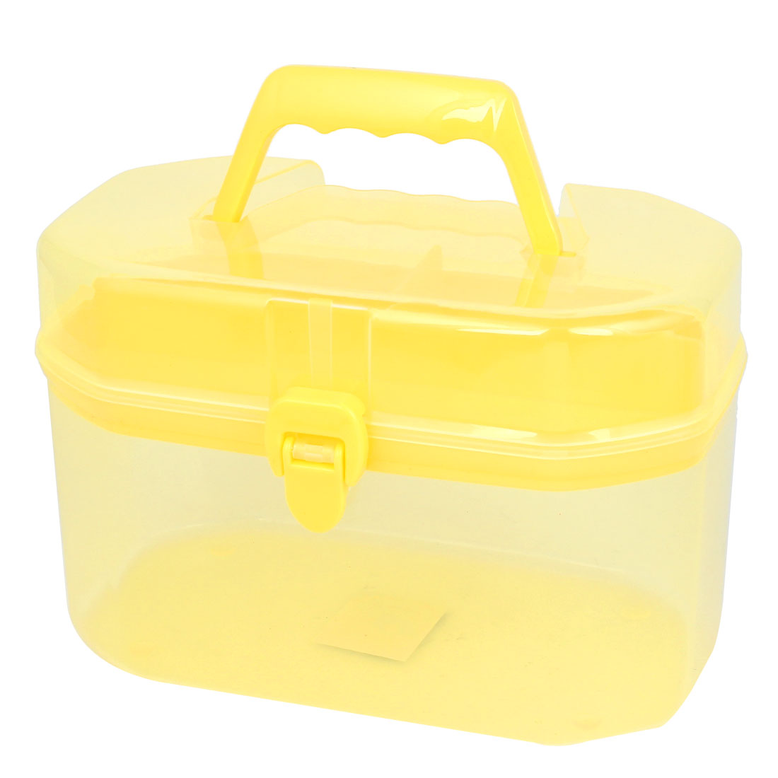 Home Family Save Room 2 Layers 4 Compartments Storage Case Box Container Yellow