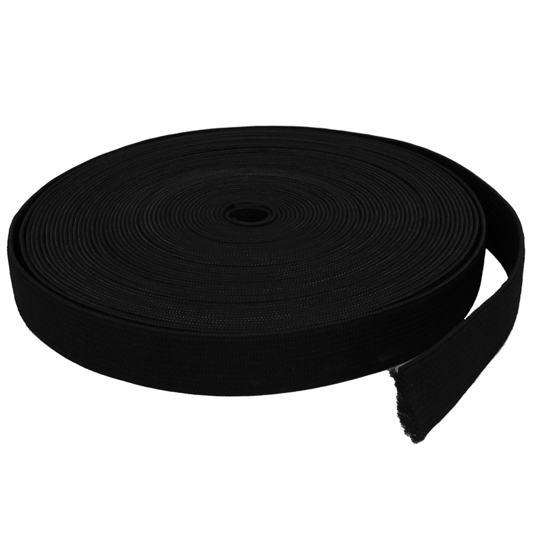 Home Family Braided Elastic Band Roll 14cm Dia Black for Tailoring Clothes Pants
