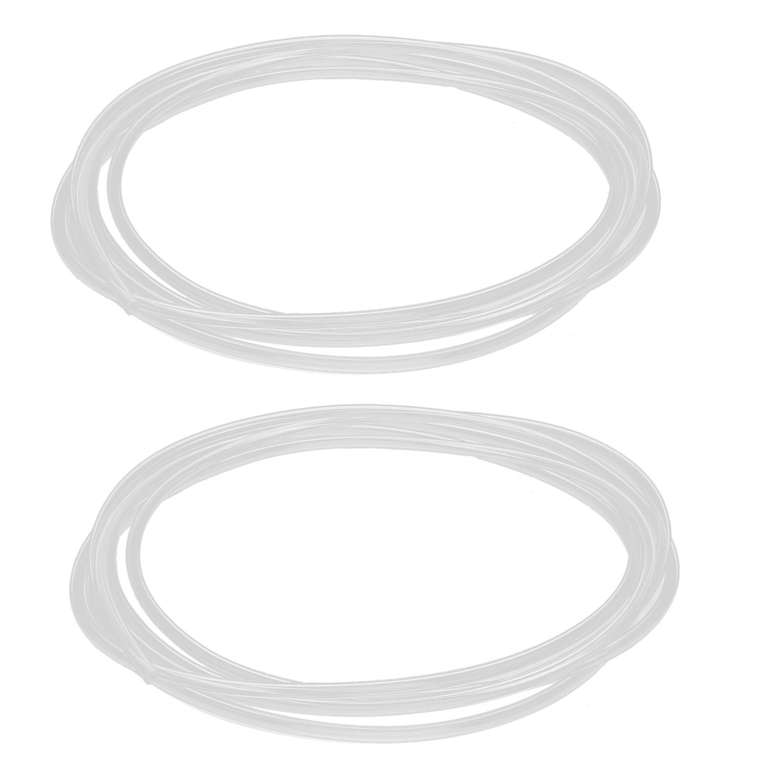 8Ft Length 4mm x 2.5mm Dia Compressor Fitting Polyurethane PU Air Pipe Hose Tube Tubing Clear 2Pcs