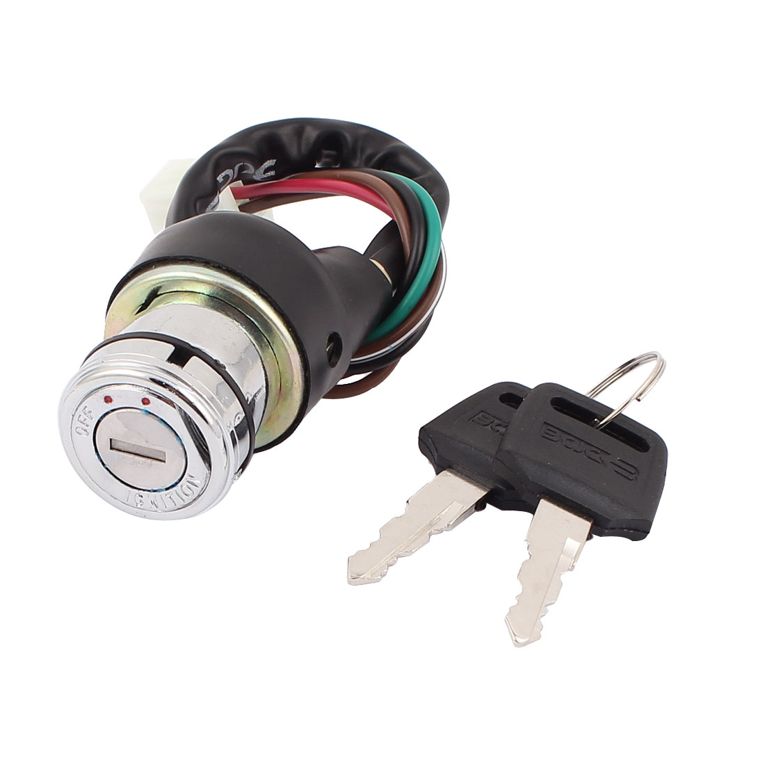 Motorcycle Dirt Bike Metal Six Wired Ignition Switch Lock w 2 Keys