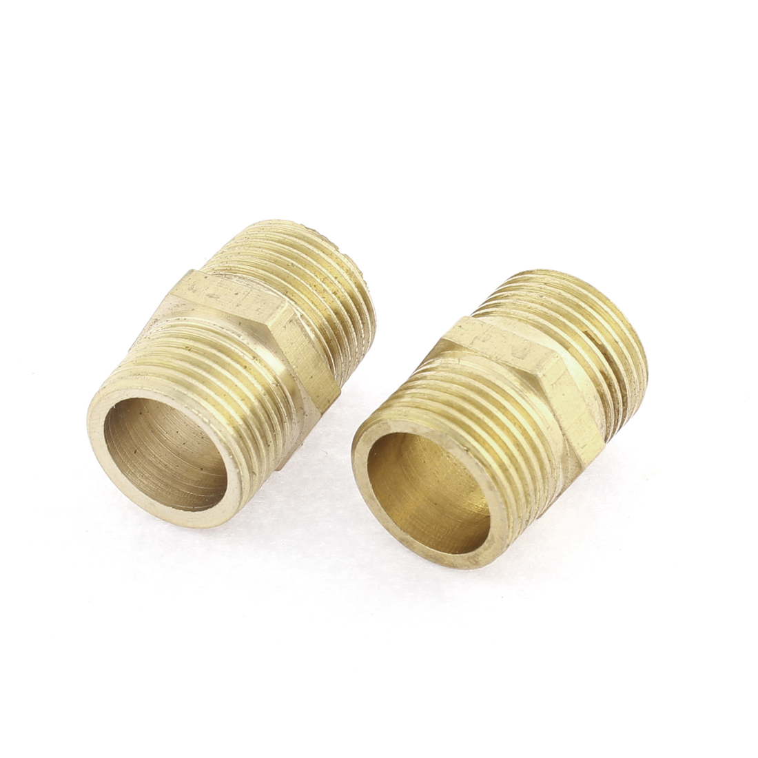 3/8BSP Male Thread Hex Nipple Pipe Fitting Coupler Connector 2pcs