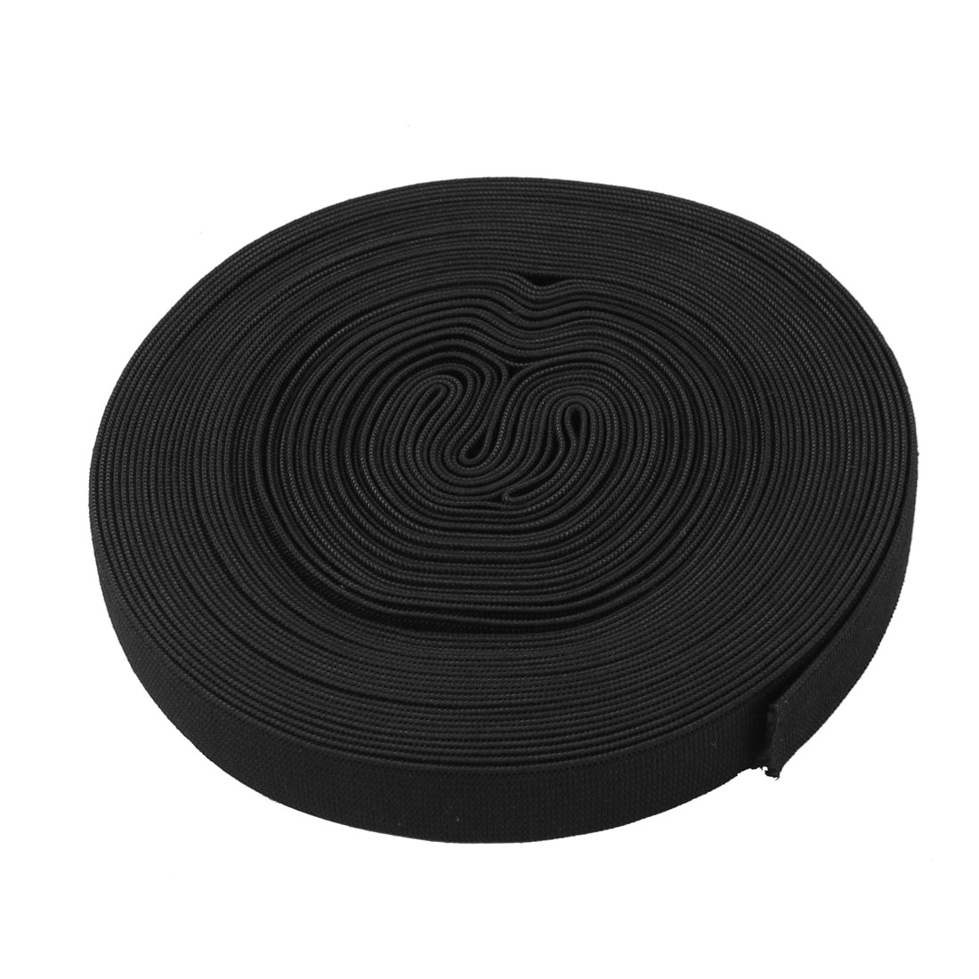 Household Elastic Fabric Tailor Braided Band 12.5M Long 20mm Wide Black for Trousers and Pants