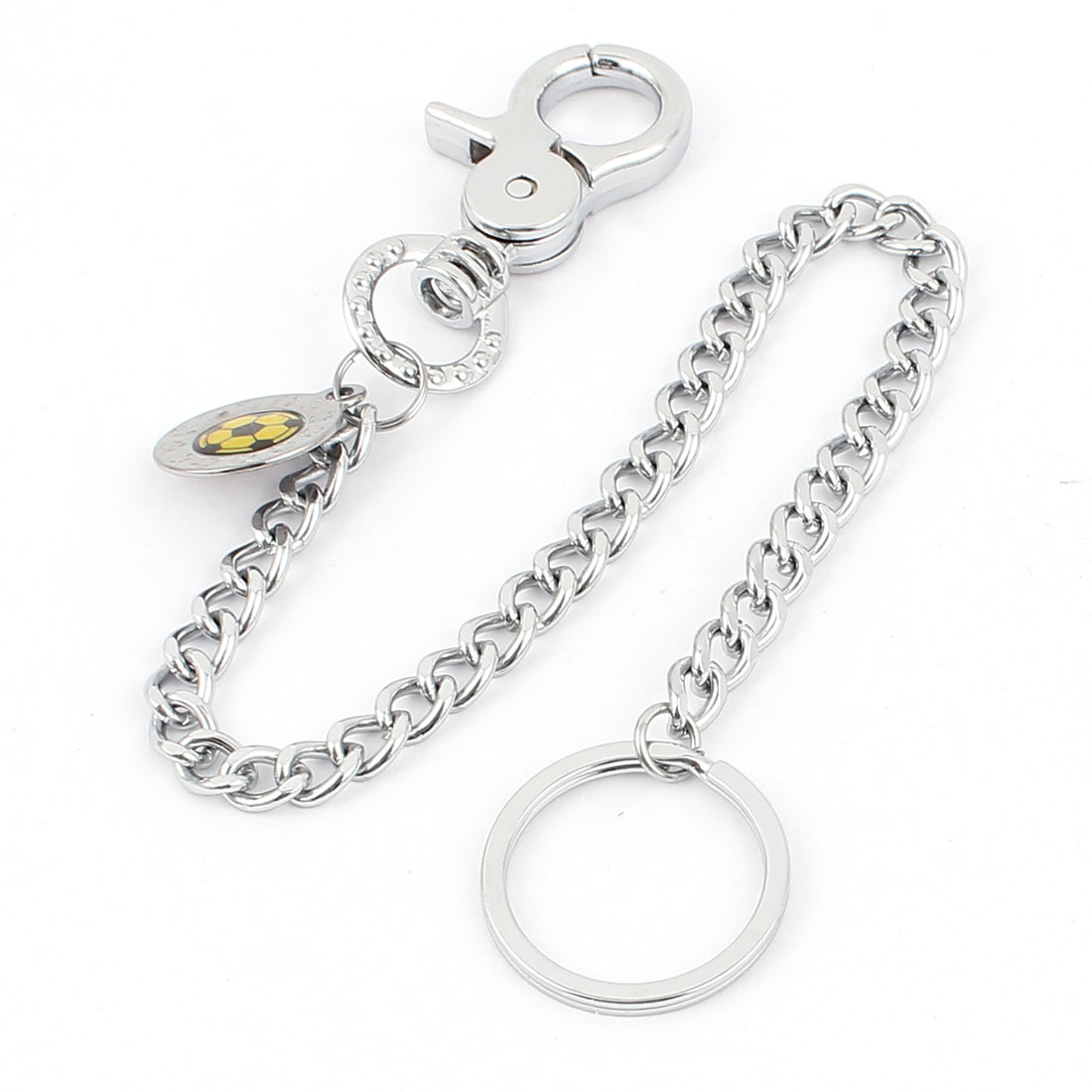 Metal Keyring Keychain Lobster Clasps Closure Silver Tone
